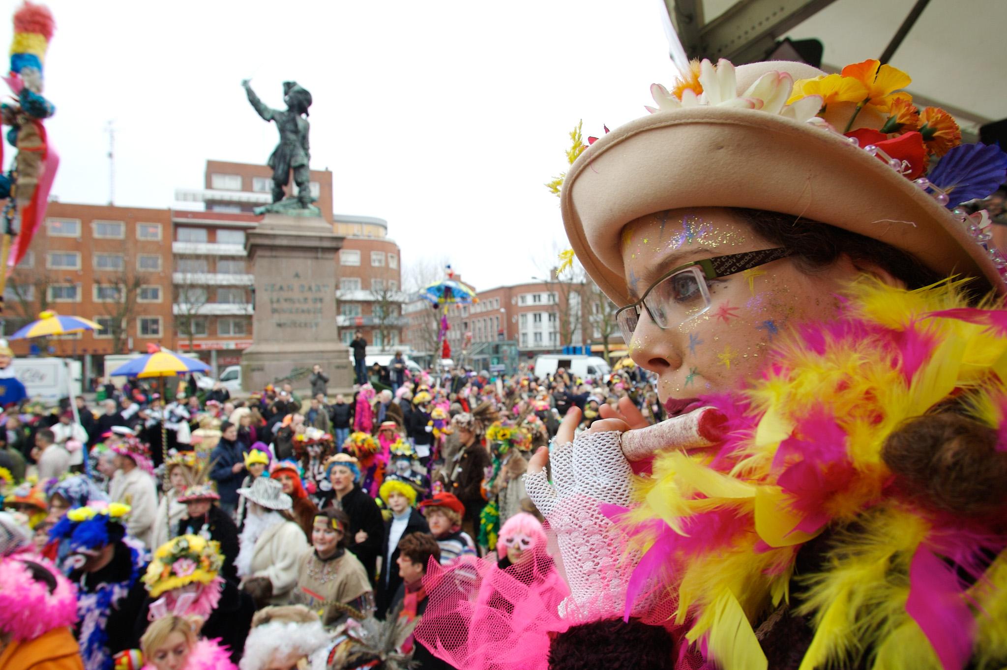 Joueuse de fifre au carnaval de Dunkerque